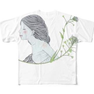 ペンペン草 フルグラフィックTシャツ