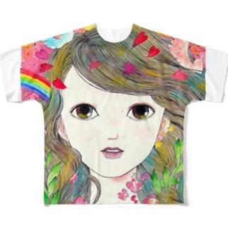 あなたの吐息私の恋ぜんぶ フルグラフィックTシャツ