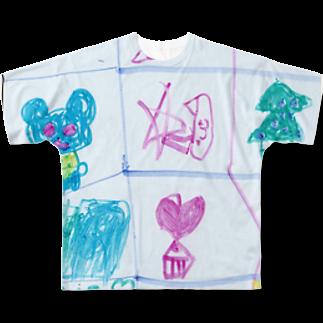 橋本京子のクリスマスのうたフルグラフィックTシャツ