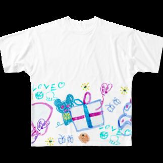 橋本京子のプレゼントのゆめみたのフルグラフィックTシャツ