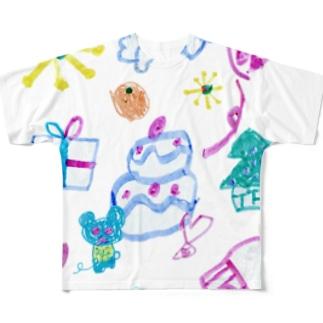 おおきなケーキのおまつり(Karin) フルグラフィックTシャツ