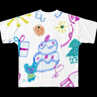 橋本京子のおおきなケーキのおまつり(Karin) フルグラフィックTシャツ