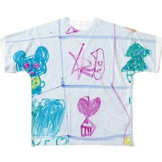 クリスマスのうた(改)(Karin) フルグラフィックTシャツ