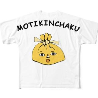 餅巾着 フルグラフィックTシャツ