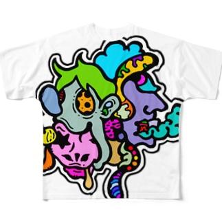 キモグロかわいい!フルカラーVer Full graphic T-shirts