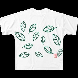 晴田書店のleaf〜葉〜 Full graphic T-shirts