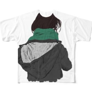 後ろ姿 Full graphic T-shirts