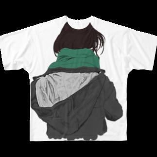 北極の後ろ姿フルグラフィックTシャツ