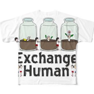 人型プラント Full graphic T-shirts