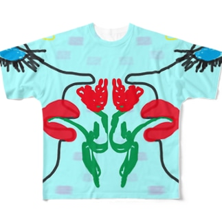 Blue eyes women Full graphic T-shirts