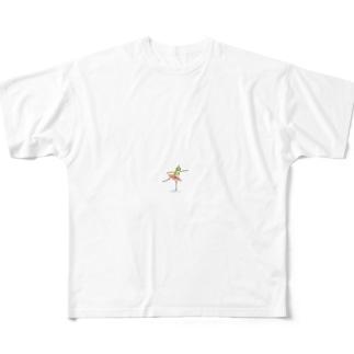 カエルバレリーナのグッズ フルグラフィックTシャツ