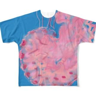 jelly jellyfish フルグラフィックTシャツ