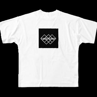 晴田書店のTAKE IT EASY Full graphic T-shirts