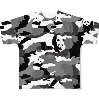 パンダカモ フルグラフィックTシャツ