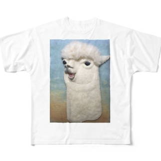 おしゃべりアルパカ Full graphic T-shirts