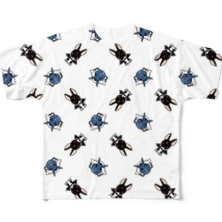 天使犬&悪魔犬 フルグラフィックTシャツ