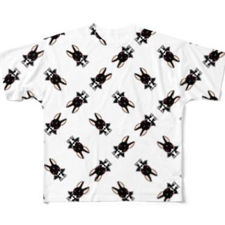 悪魔犬フィア(格子パターン) フルグラフィックTシャツ