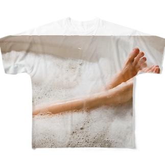 美脚 Full graphic T-shirts