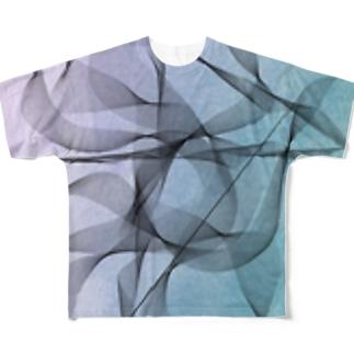 揺れる Full graphic T-shirts