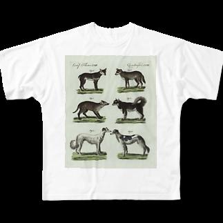 J. Jeffery Print Galleryの1802年ドイツの犬たちフルグラフィックTシャツ