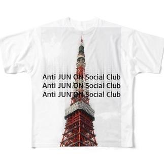 Anti JUN ON Social Club  フルグラフィックTシャツ