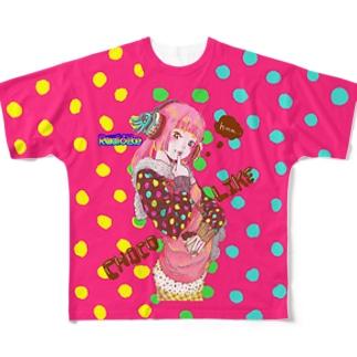 Choco Like Girl フルグラフィックTシャツ