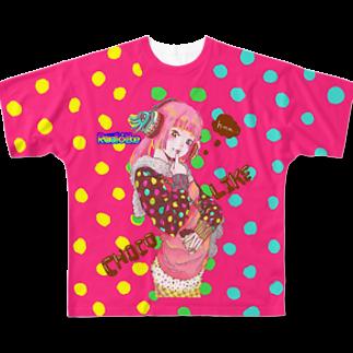 Radio Like hmm...のChoco Like GirlフルグラフィックTシャツ