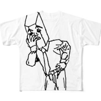考察 水晶課長 Full graphic T-shirts