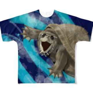 あくびのミシシッピにおいがめ フルグラフィックTシャツ