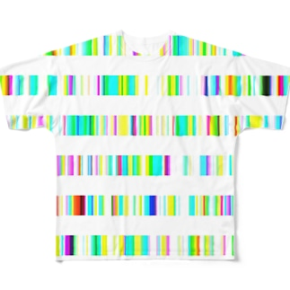 Color Bars Full graphic T-shirts