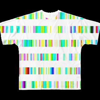 レオナのColor Bars Full graphic T-shirts