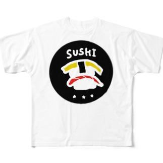 SUSHI フルグラフィックTシャツ