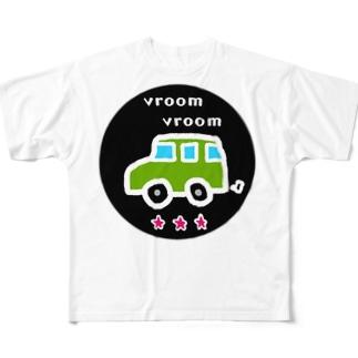 vroom vroom フルグラフィックTシャツ