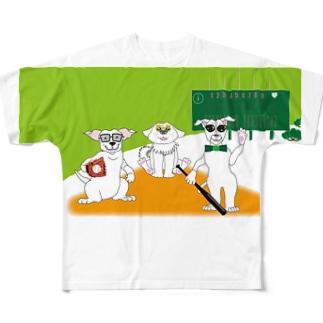 犬とベースボールのガンバgoods フルグラフィックTシャツ