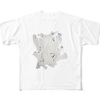 罪悪感少女 Full graphic T-shirts