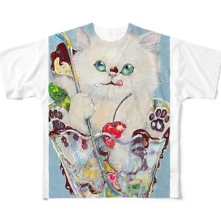 sweetcat フルグラフィックTシャツ