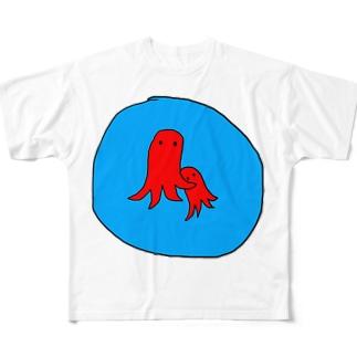 タコさん Full graphic T-shirts