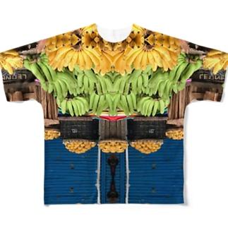 カルボンマーケットとバナナとマンゴー Full graphic T-shirts