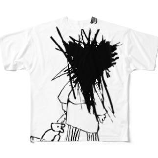 悲劇のこ フルグラフィックTシャツ