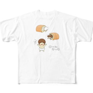 ロールケーキ Full graphic T-shirts