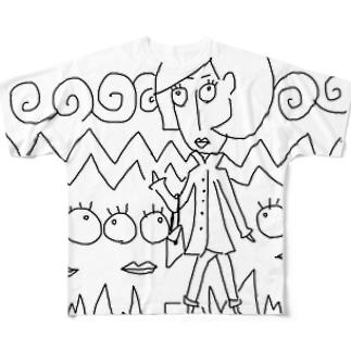 トレンチレディー Full graphic T-shirts