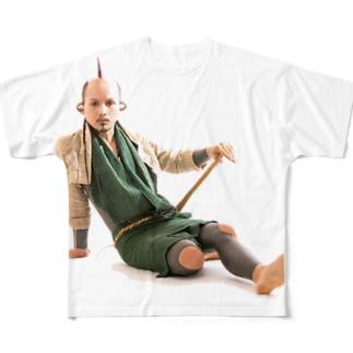 ねろが誘ってるよの図 Full graphic T-shirts