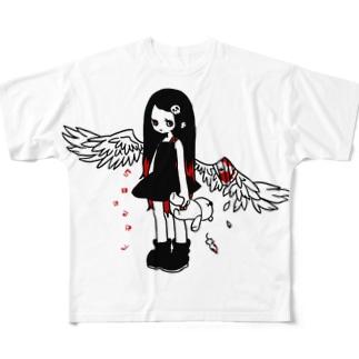 負傷天使ちゃん フルグラフィックTシャツ