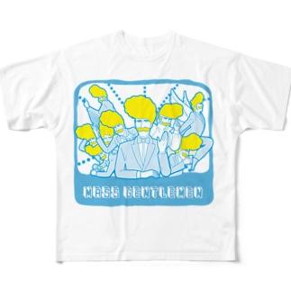 マスおじさん フルグラフィックTシャツ
