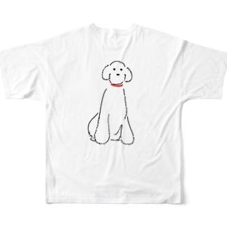 スタンダードプードル Full graphic T-shirts