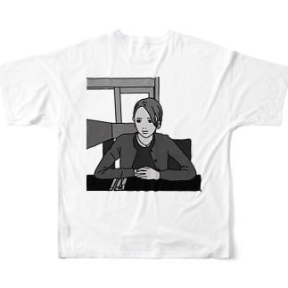 ケーキセットを待ちわびて Full graphic T-shirts