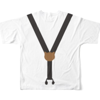 cat  suspenders Full graphic T-shirts