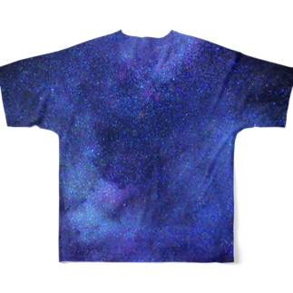 Galaxy Blue Full graphic T-shirts
