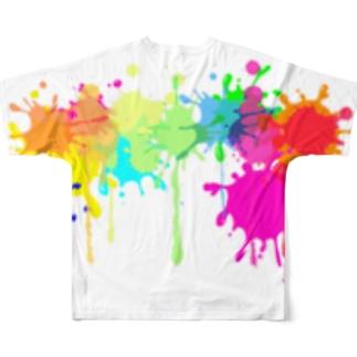 インクをぶちまけたのは私です。 Full graphic T-shirts