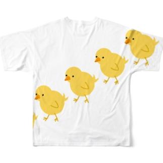 ぴよぴよPちゃん Full graphic T-shirts